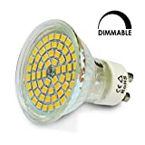 MATTSCO® 10 X 4W GU10 60SMD LED Strahler 120° Grad, Dimmbar, ersetzt 40W Halogen, 230V, 320lm, Warmweiß 2900K