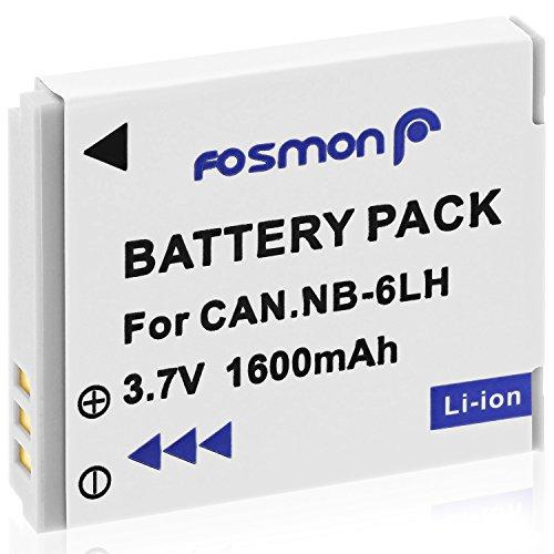 Fosmon 3,7V 1600mAh Canon NB-6L NB6L / NB-6LH NB6LH Ersatz Li-ion Akku Batterie für Canon Powershot SX710 HS SX520 HS SX520HS SX600 HS SX700 HS SX610 HS SX710 HS SX500 is SX510 HS SX510HS SD1300