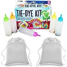 Tie Dye Kit | con 2bolsas de cordón para decorar | Tie Dye camisetas, bolsas, ropa funda | divertido para niños, adolescentes y adultos