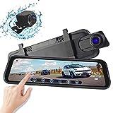 Cámara De Coche 1080P Full HD, Dash cam 9.66' Pantalla táctil IPS con 170° Gran Ángulo, WDR, G-Sensor, GPS, Grabación en Bucle
