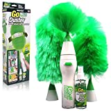 KBF Creative Hand-Held, Sward Go Dust Electric Feather Spin Home Duster, Green. Electronic Motorized Cleaning Brush Three (3)