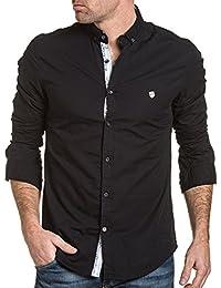 BLZ jeans - Chemise homme noir unie chic