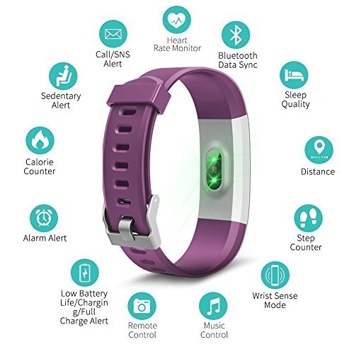 97a7a45ce Kybeco Fitness Tracker Kybeco Elegant Waterproof Heart Rate Monitor  Activity Tracker Bluetooth Wearable Wristband Wireless Step