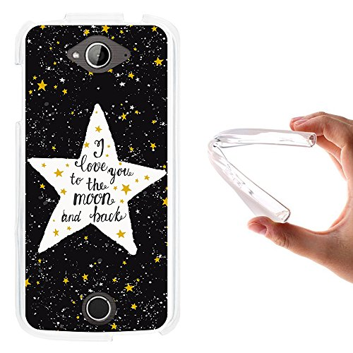 WoowCase Acer Liquid Z530 Hülle, Handyhülle Silikon für [ Acer Liquid Z530 ] Star Satz - I Love You to The Moon and Back Handytasche Handy Cover Case Schutzhülle Flexible TPU - Transparent
