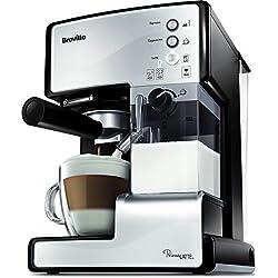 Breville VCF045X - Cafetera de expreso, color blanco y negro