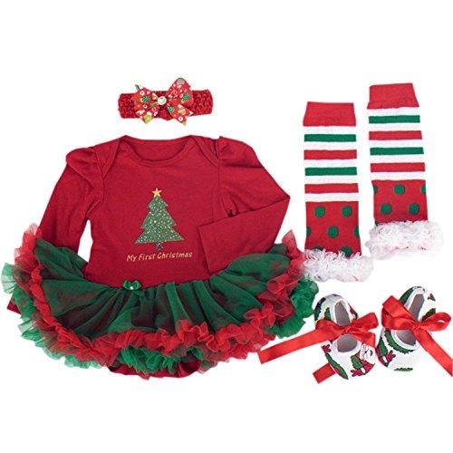 Newsbenessere.com 51KQGIt6jBL BabyPreg® Neonate mio primo Natale costume della Santa del partito del vestito 4PCS