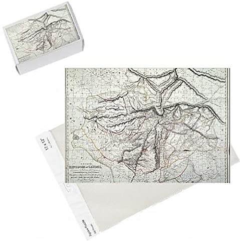 Photo Jigsaw Puzzle of A Map of the Kingdom of Kabul (colour litho)