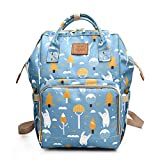 LQZ Large Capacity Waterproof Baby Nappy Changing Bag Diaper Backpack for Mom Dad