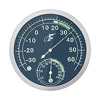 Kkmoon -30 ~ 60°C Acero Inoxidable Dial Analógico Higrómetro Del Termómetro Medidor de Humedad de Temperatura