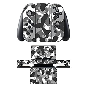 Disagu SF-sdi-5542_348 Design Skin/Folie für Nintendo Switch/Controller/Dockingstation – Motiv Camouflage Schwarz klar