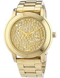 DKNY Damen-Armbanduhr XL Analog Quarz Edelstahl beschichtet NY8437