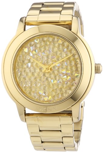 DKNY Ladies'Watch XL Analogue Quartz Stainless Steel Coated NY8437