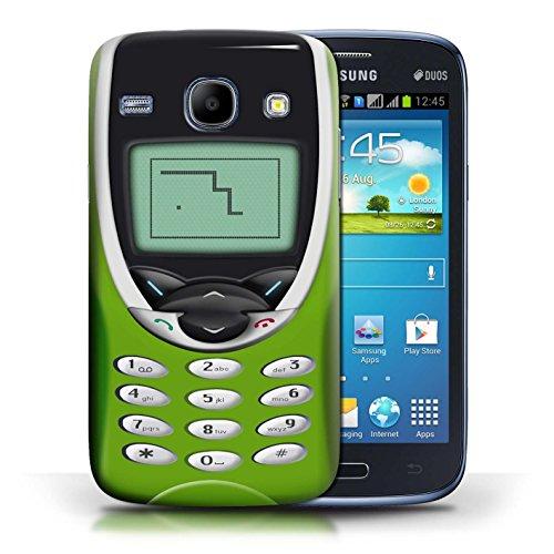 Coque en plastique pour Samsung Galaxy Core Collection Portables rétro - Nokia 3310 bleu Nokia 8210 chaux