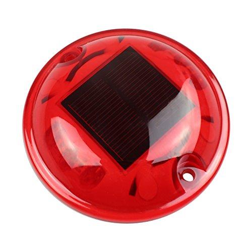 Cistwin red pc solar 6-led per esterni per strada stradale per pontile cis-57645r