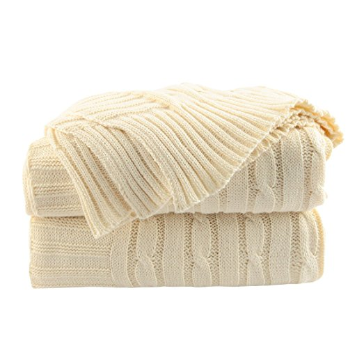 uxcell - Manta de Punto para sofá de Silla, 100% algodón, diseño...
