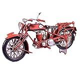 UniqueGift Metall Collectible Rot Motorrad Modell-Retro Industrie Decor-Metall Replica Deko...