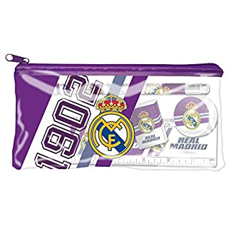 Real Madrid – Estuche portatodo con material escolar (CYP Imports GS-412-RM)