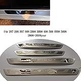 soglia porta in acciaio inox per 308 408 508 soglia 3008 2008 307 door sill