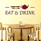 Decals Design Wall Stickers Cafe Eat and...