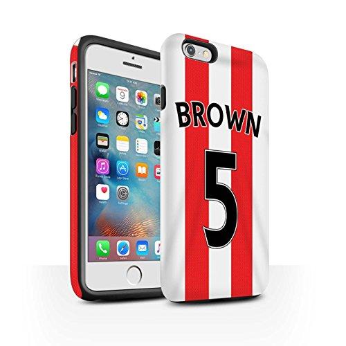 Offiziell Sunderland AFC Hülle / Matte Harten Stoßfest Case für Apple iPhone 6+/Plus 5.5 / Pack 24pcs Muster / SAFC Trikot Home 15/16 Kollektion Brown
