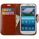 N19 Braun Handytasche im Bookstyle für Samsung Galaxy S3 i9300 i9305 Schutzhülle Schutzschale Bumper Tasche Etui Case Hülle Brown