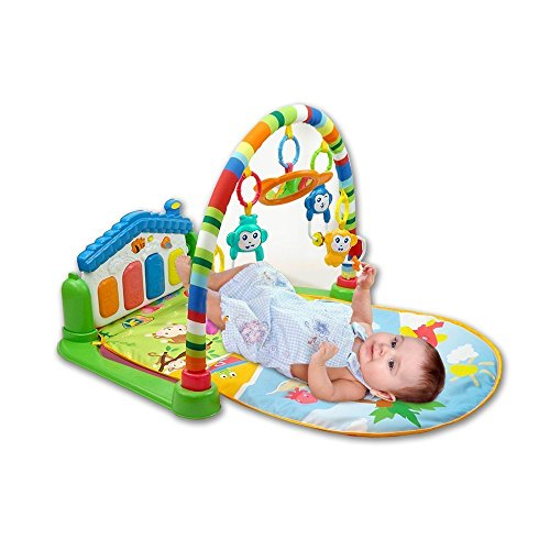 Toyshine Baby's Playmat Gym with Toys, Made of Non Toxic Materials - Assorted Color