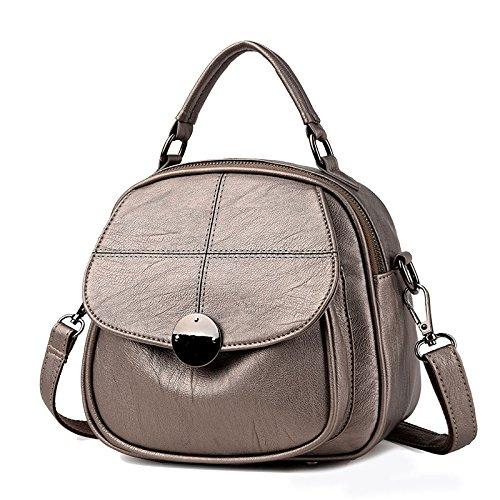 Ljiang Die Kleinen Rucksack Passen Frauen Alle Sommer Diagonal Drei Beutel Multifunktionalen Tragbaren Leder - Tasche Weiblich bronze