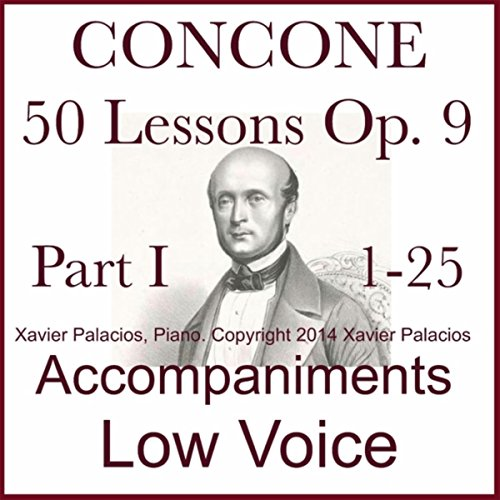 Concone 50 Lessons Op. 9, Part I (1-25) Accompaniments for Low Voice