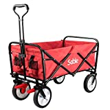 Sable Garden Folding Wagon Foldable Heavy Duty Trolley Utility Transport Cart 100kg Max