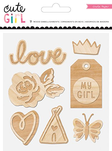 Cute Girl Wood Veneer Shapes 7/Pkg-