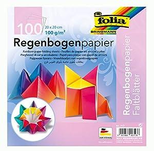 Folia Plegable Hojas Arco Iris 110g/m², 100Hojas Colores Surtidos