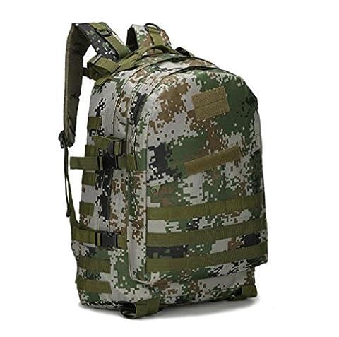 ZC&J Outdoor 36-55L Capacité Camouflage Hommes Sac à dos, Tactical Sports Trekking Sac à dos d'alpinisme, imperméable à l'Oxford Sac en alpinisme réglable en tissu,B8,36-55L