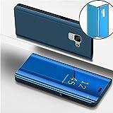 Für Samsung Galaxy S9 Plus Hülle Spiegel Slim Leder Plating Frame Transparent Schutzhülle Wallet Brieftasche Etui,Gal