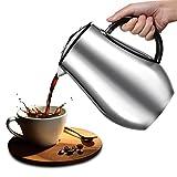 French Press kaffeezubereiter/ Kaffee und Teebereiter Teekanne/Kaffeekanne kaffeebereiter aus Edelstahl, 1.2L/Silber/Aromen &Geschmack Gnießen (Silber)
