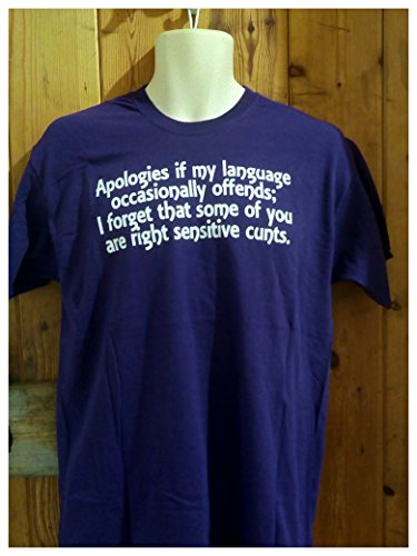 Purple Apologies if my language offends, Sensitive C*unts t-shirt