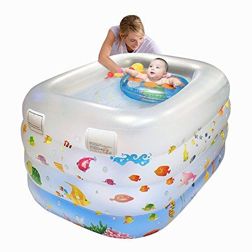 LZTET Faltende Wanne-aufblasbarer Baby-Swimmingpool-Neugeborenes Hauptdämmung-Innenübergroßer Planschbecken,FactoryPackage