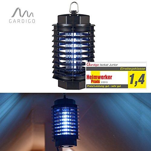 #Gardigo Fluginsekten-Vernichter 50 m² UV-Licht Heimwerker Praxis Note 1,4#