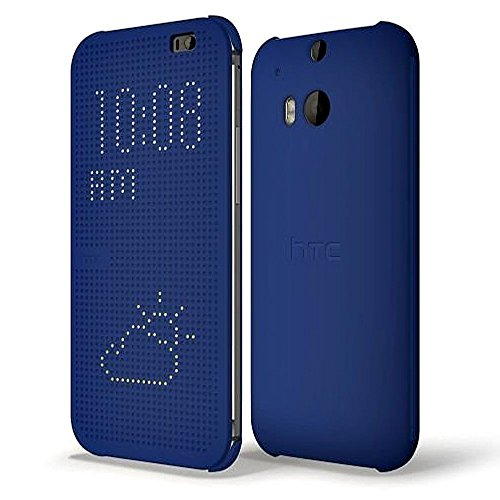HTC Dot View Cover für HTC One (M8), blau (Htc M8 Dot View Case)