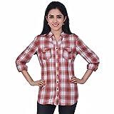 Orange Plum Women'S Checkered Shirt