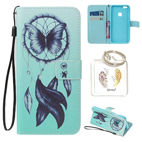 Huawei P10 Lite PU Silikon Schutzhülle Handyhülle Painted pc case cover hülle Handy-Fall-Haut Shell Abdeckungen für Smartphone Huawei P10 Lite + Schlüsselanhänger (/T) (15) (Fällen Schlüsselanhänger)