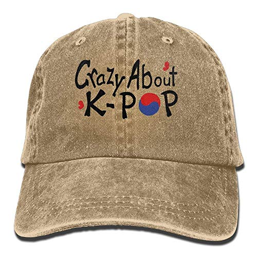 Preisvergleich Produktbild Presock Crazy About K-pop TXT S.Korea Flag Hearts Vector A Cowboy Visor Rear Cap Adjustable Cap