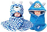 BRANDONN Newborn Combo Of 2 Hooded Baby Blanket And Sleeping Bag(Pack Of 2)