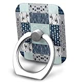 Nicegift Patchwork Deer in White, Mint,Navy, Grey Cell Phone Ring Holder 360 Degree Rotation And 180 ¡ãFlip Finger Ring Stand Holder Kickstand for iPhone,Samsung Galaxy, Smartphones And Tablet