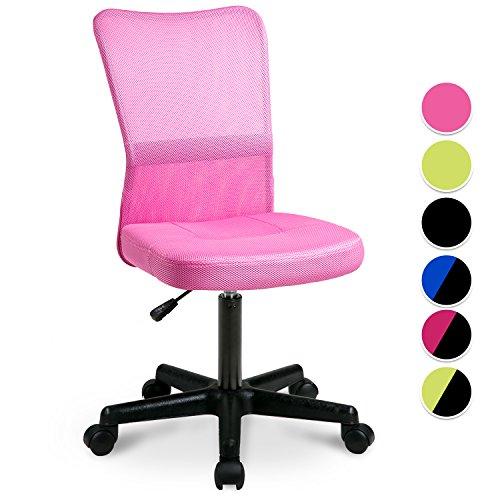 Merax Drehstuhl Schreibtischstuhl Bürostuhl Kinder Arbeitsstuhl Netz,53x58x97cm Pink