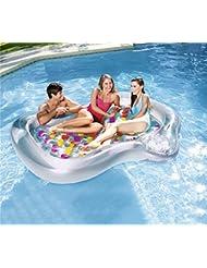 Go out Piscina Flotador,Inflable Bote Flotante Ocio Flotante Vacaciones Juguete De Natacion Agua Relajación