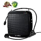 SHIDU SD-S512 Sprachverstärker (18W) mit 1200mAh Lithium-Batterie und Internes Mikrofon für Lehrer, Reiseleiter und Yoga-Lehrer ((Schwarz)) S512