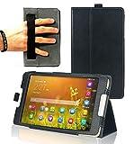 Navitech Schwarzes Case Cover mit Multi Stand Funktion für das Huawei MediaPad M1 8.0
