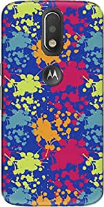 The Racoon Blue Paint Splash hard plastic printed back Case for Motorola Moto G Plus 4th Gen