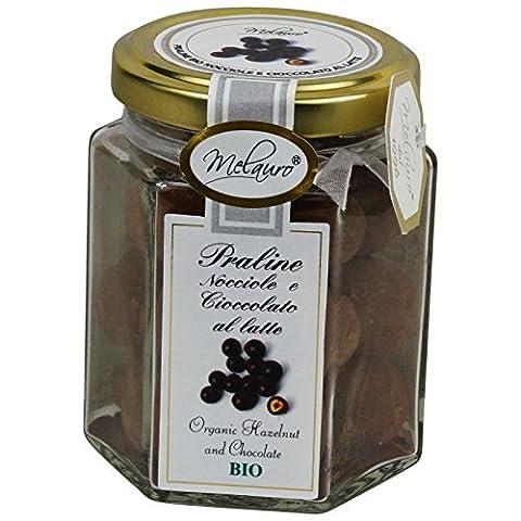 Belle Shop - Noisettes Praliné Recouverts de Chocolat au Lait en Vase de Verre - Produit Italien Bio, Sans Gluten