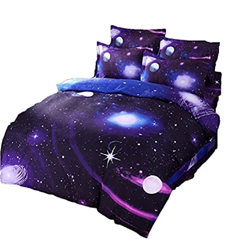 Etelux 3d Mysterious Boundless Galaxy Red Sky Starry Night KissLife